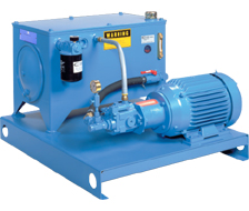 L-shaped hydraulic power units