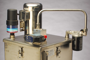 The Wash Down Little Champ is a simple power unit solution for the Food Industry